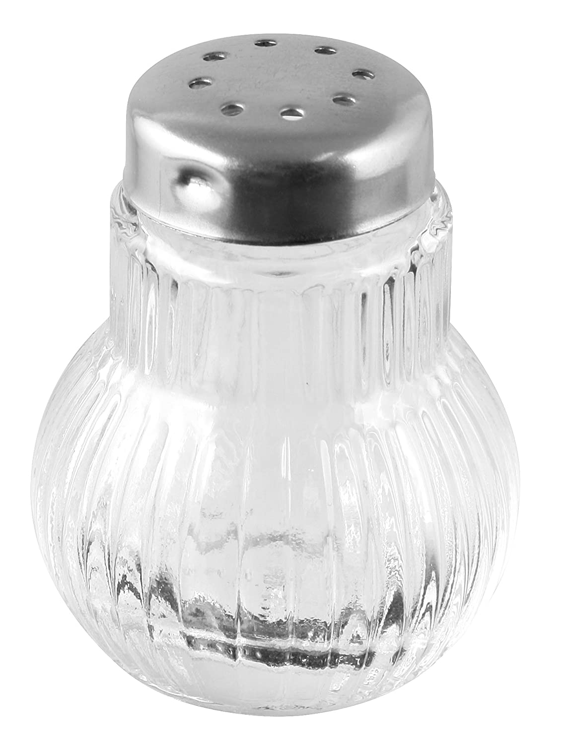 Fackelmann Rubin 46966 Mini Glass Spice Shakers (Pack of 6)