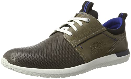 Mens 13630 Low-Top Sneakers, Grey, 8 UK s.Oliver