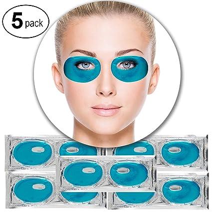 VAGA 5 pares parches de colageno azul alga antiarrugas para ...