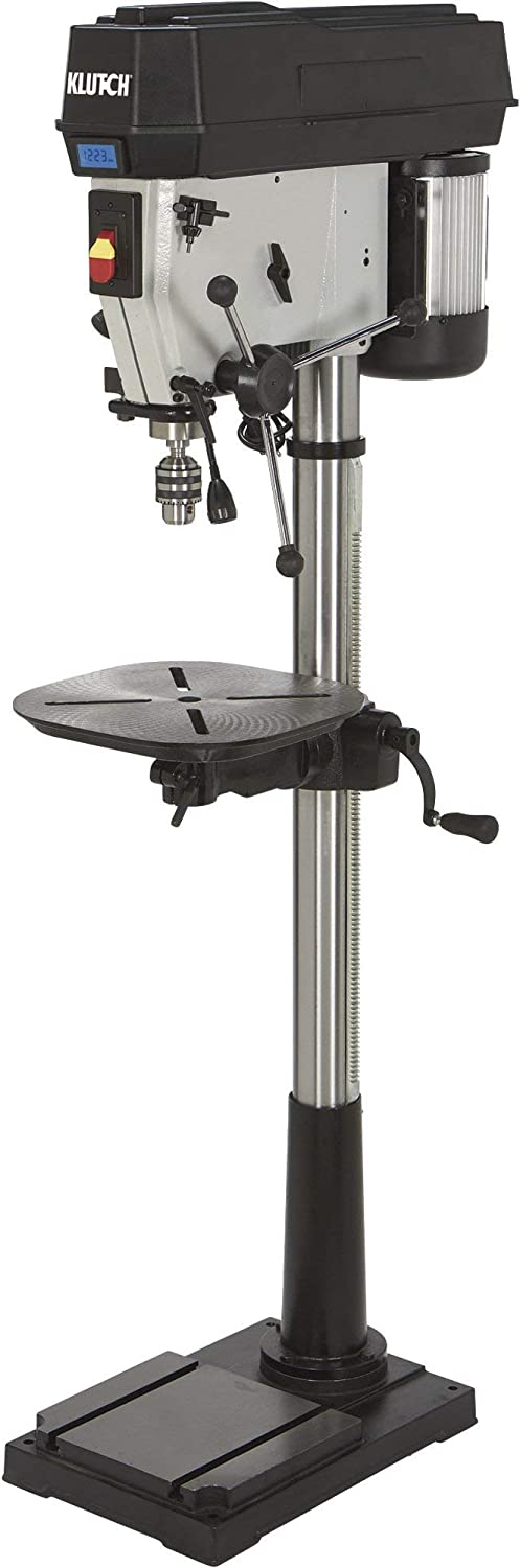 Klutch Floor Drill Press - Variable Speed with Digital Display, 17in. 1 1/2 HP, 120V