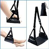 COOWOO Foot Rest, Portable Travel Footrest Flight Carry-on Foot Rest Office Feet Rest Foot Hammock