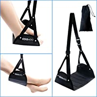 COOWOO Foot Rest, Portable Travel Footrest Flight Carry-on Foot Rest Office Feet Rest Foot Hammock