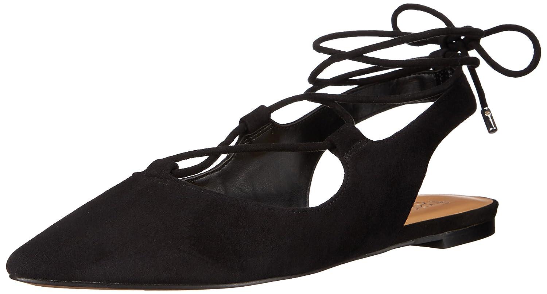 Franco Sarto Women's Snap Ballet Flat B016ELSNBQ 8 B(M) US|Black