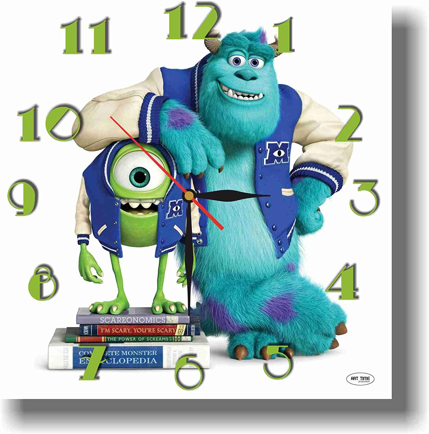 MAGIC WALL CLOCK FOR DISNEY FANS Monsters Inc 11'' Handmade made of acrylic glass - Get unique décor for home or office – Best gift ideas for kids, friends, parents and your soul mates