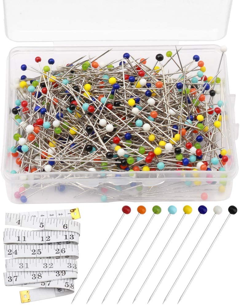 pengxiaomei 200 Pieces Flat Head Straight Pins Flower Head Sewing Pins Quilting Pins for Sewing DIY Projects Dressmaker Jewelry Decoration Assorted Colors