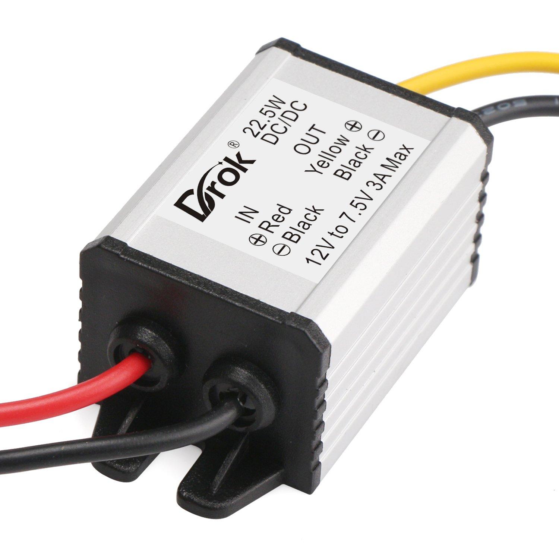 DROK Buck Voltage Reducer Converter 12V to 7.5V 3A/22W Step-down Power Module DC/DC Voltage Transformer Regulator Power Supply Board for LED Display Radio by DROK (Image #3)