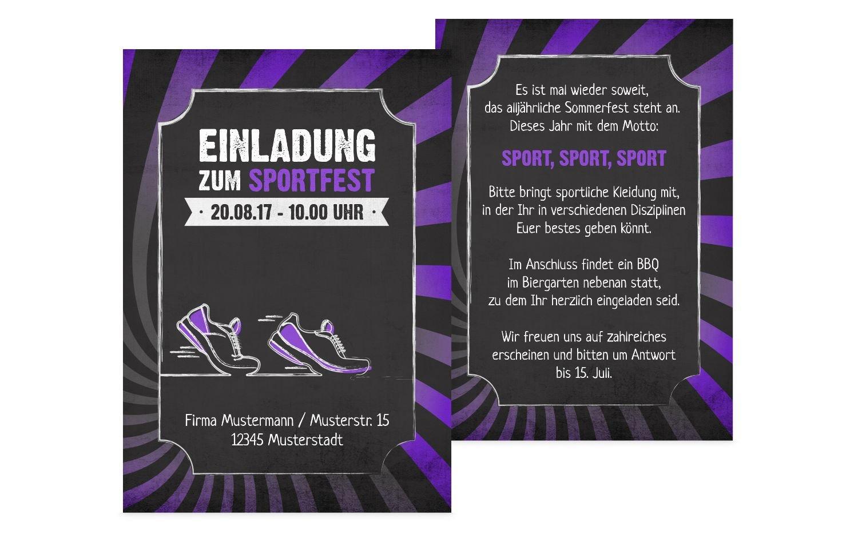 Einladung Sommerfest Retro Sport, 60 Karten, Rot B073W8VDVF | Leicht zu reinigende Oberfläche  | Qualität Produkt  | Um Zuerst Unter ähnlichen Produkten Rang
