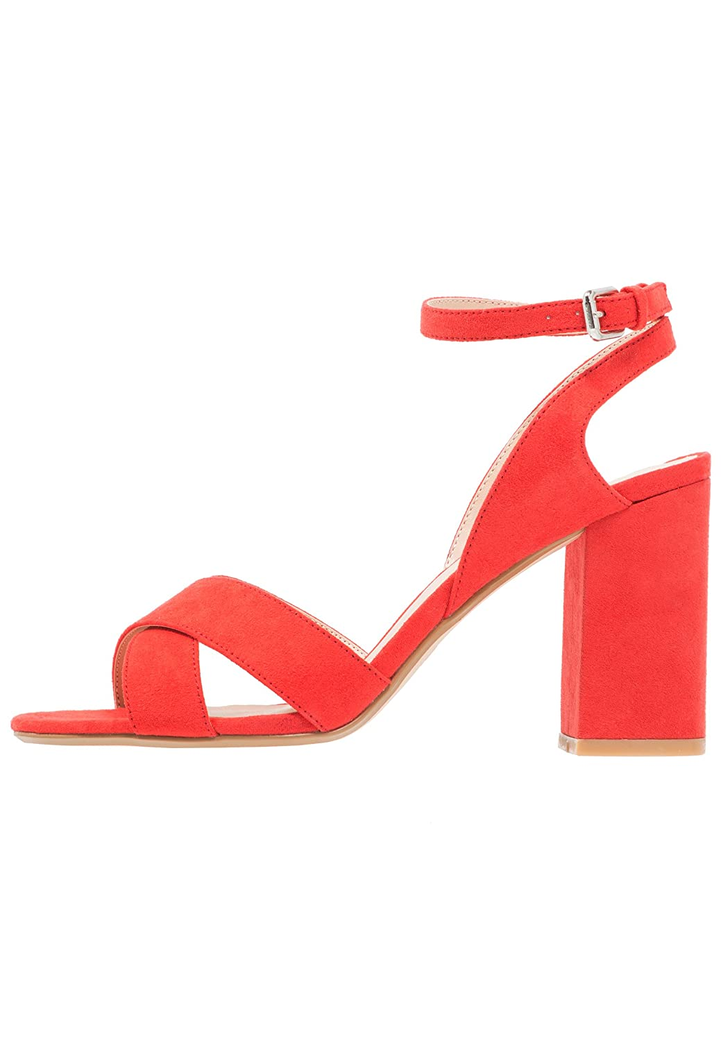 Even&ODD Sandals for Women - High Heel Sandals with Ankle Strap - Strappy Block Heels Made of Faux Leather - Open Toe Summer Shoes: Amazon.co.uk: Shoes & ...