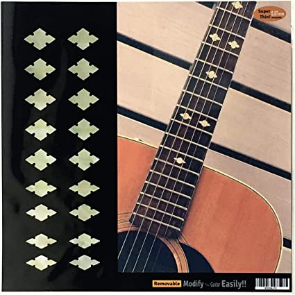 Fretboard Markers Inlay Sticker Decal for Guitar /& Bass White Pearl trapezoid