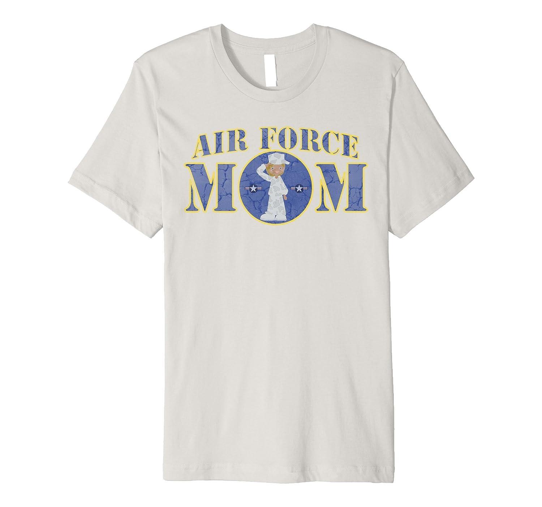 AIR FORCE MOM BLACK FEMALE AIRMAN MILITARY T-SHIRT
