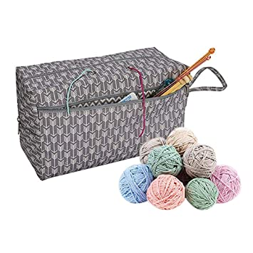 Kitchen Storage & Organization Knitting Bag Yarn Storage Craft Tote Inner Divider For Wool Crochet Needles Storage Hand Tool Bag Travel Makeup Organizer Pouch