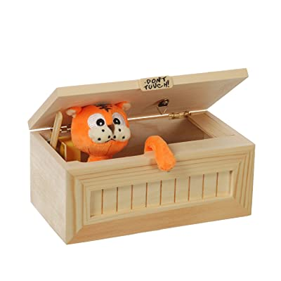 Tiger Useless Box, Hezong Don't Touch Gag Toys (Real Wood)