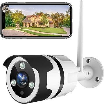 NetVue Camaras de Vigilancia Wifi Exterior 1080P, Compatible con Alexa, Exterior IP66 Resistente al Agua Resistente al Polvo estática con visión Nocturna, vigilancia per LAN & WiFi conexión: Amazon.es: Electrónica