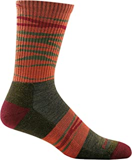 product image for Darn Tough Switchback Micro Crew Light Cushion Sock - Men's Forest Small