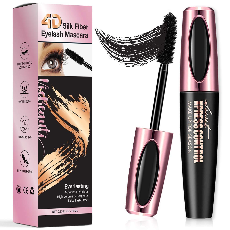 VieBeauti ULTIMATE 4D Silk Fiber Lash Mascara Adds Length, Depth and Glamour Effortlessly - Waterproof, Long-Lasting, Just Like Falsies!