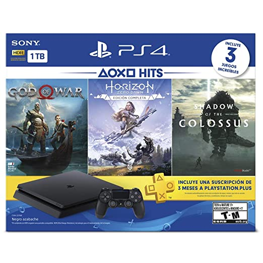 Playstation 4 Hits 1tb Con 3 Juegos God Of War Horizon Zero Dawn