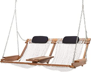 product image for Nags Head Hammocks Cumaru Deluxe Double Porch Swing, White Polyester