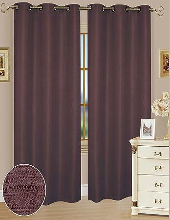 Amazon.com: Solid Window Curtain Panel 38 x 84