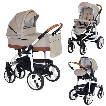 HT2 – Cochecito de bebe combinado Trio 3 en 1, carrito de paseo, asiento