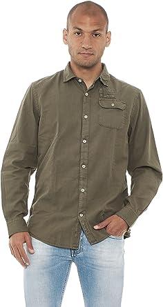 NAPAPIJRI - Camisa casual - Manga larga - para hombre verde ...