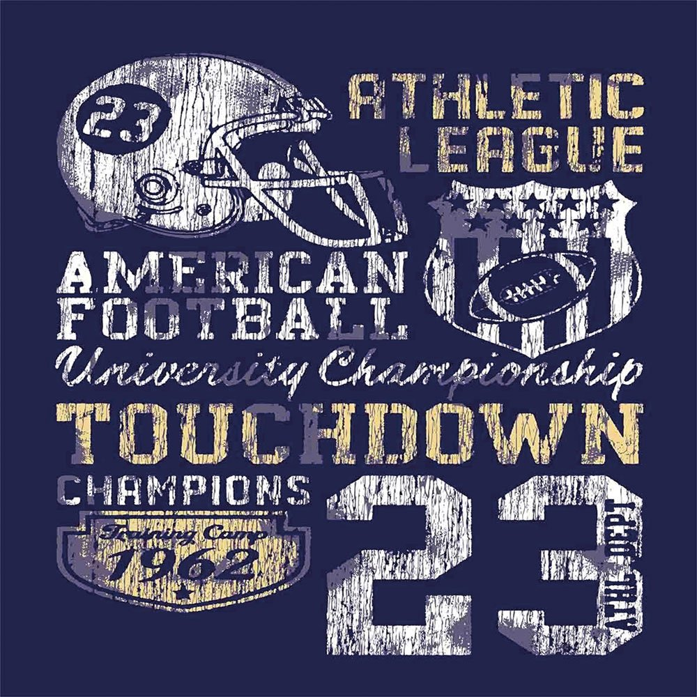 Blackout Window Curtain,Free Punching Magic Stickers Curtain,Sports,Retro American Football College Illustration Athletic Championship Apparel Decorative,Purple White Yellow,Paste style,for Living Roo