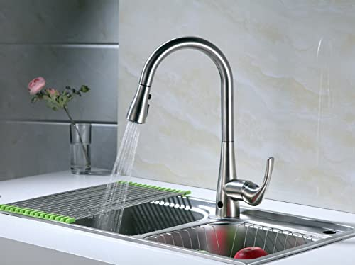 RunFine RF412001 Deck Plate Single Handle Kitchen Sink Faucet