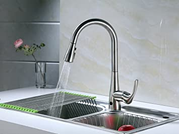 High Quality RunFine Group Hands Free Single Handle Pull Down Kitchen Faucet