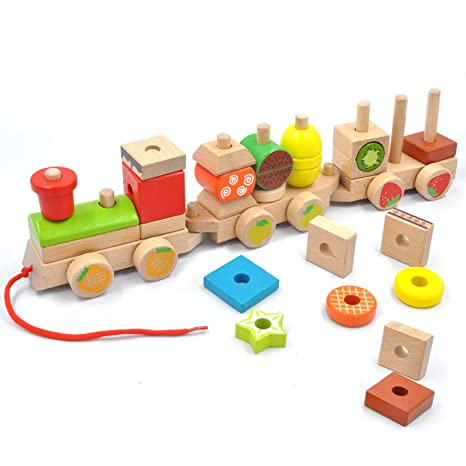 Puzzles Toys & Hobbies Charitable Wooden Educational Toy Fruit Shape Color Sorter Stacking Chunky Puzzle For Baby Toddlers Montessori Early Learning To Be Distributed All Over The World