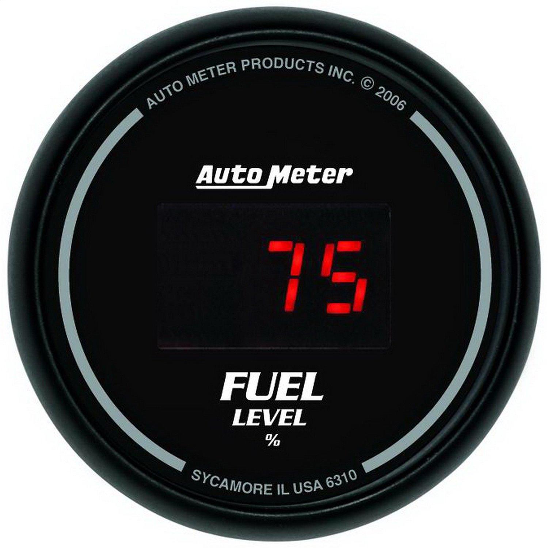 Auto Meter 6310 Sport Comp Digital Black 2-1/16 Programmable Gauge with presets Fuel Level