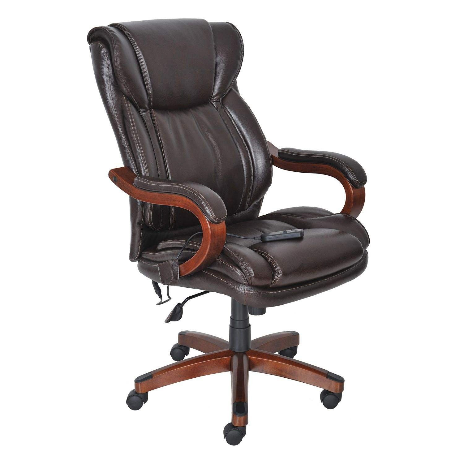 Amazon Lane Big & Tall Bonded Leather Executive Massage