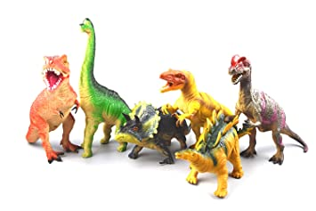 Toys For Boys To Color : 6 different pack of dinosaur toys with sound effects assorted
