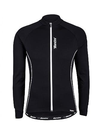 Santini Black Ora Thermofleece Long Sleeved Cycling Jersey  Santini  Amazon.co.uk   Sports   Outdoors 3dd6fd913