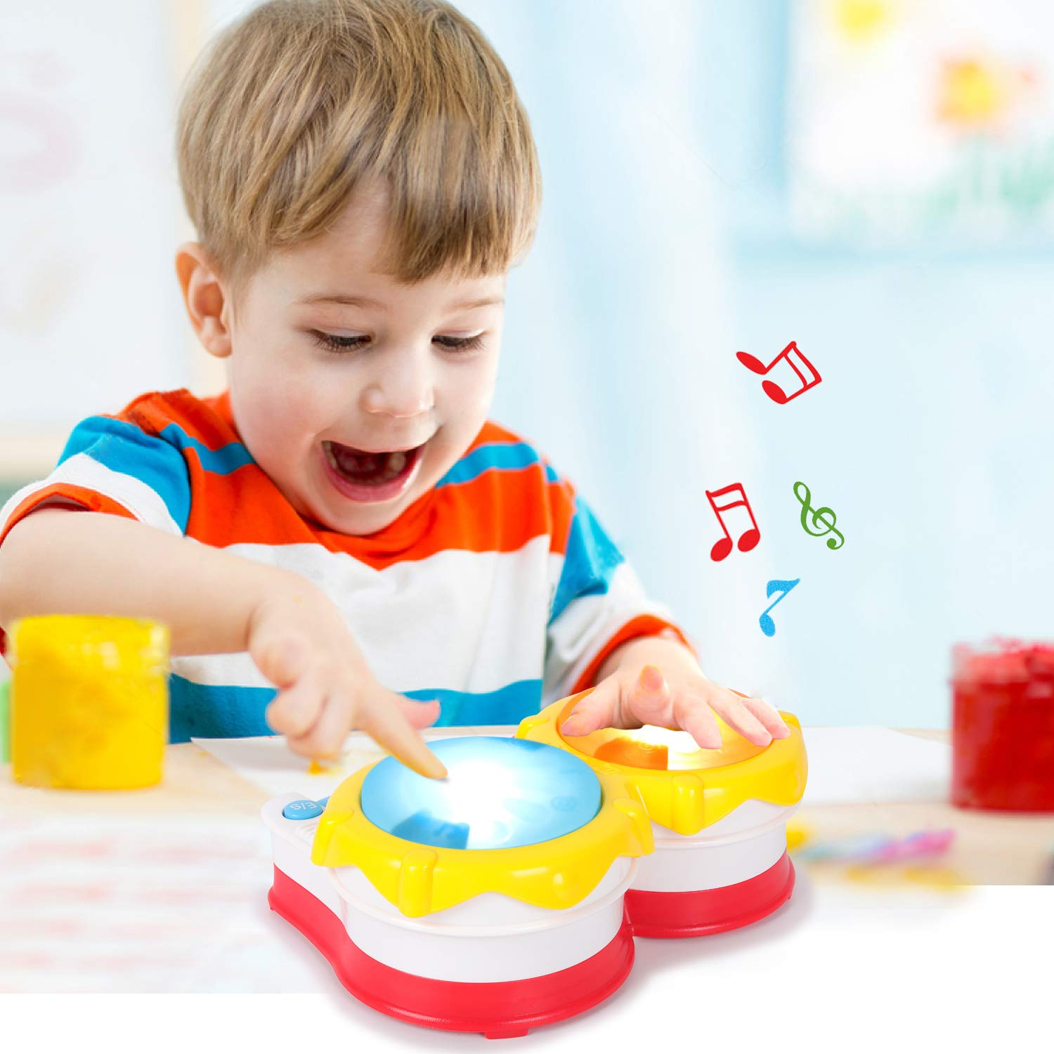 M ZIMOON Baby Musical Toys Hand Drum Piano Early Education Musical Instruments Learning Electronic Keyboard for Girls And Boys Toddlers