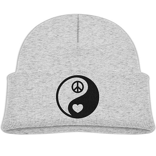 bf8cf20c43cee Amazon.com  Knitted Hat Yin Yang Peace Love Baby Beanies Caps Unisex ...