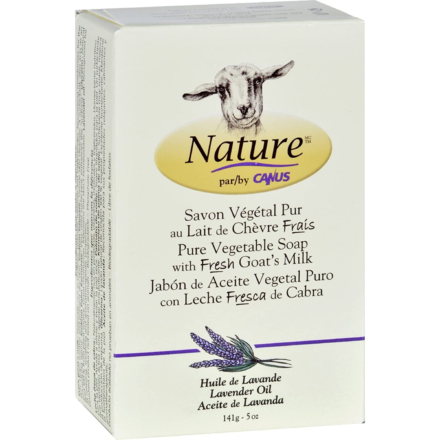 Nature By Canus Bar Soap - Goats Milk - Lavender Oil - 5 oz - (Pack of 3)