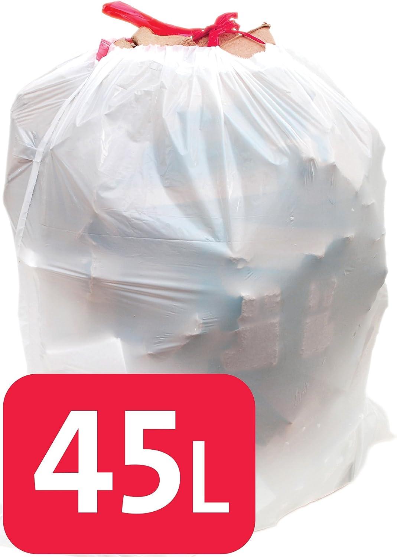 Alina 45L cordón Bolsa de Polietileno – Bolsas de Basura/Bin/Peso ...