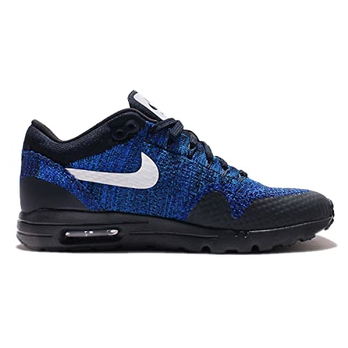 0081ce5b0bd22 Nike Women s Air Max 1 Ultra Flyknit Shoes-Blue Black 843387 401 Size 12   Amazon.ca  Shoes   Handbags