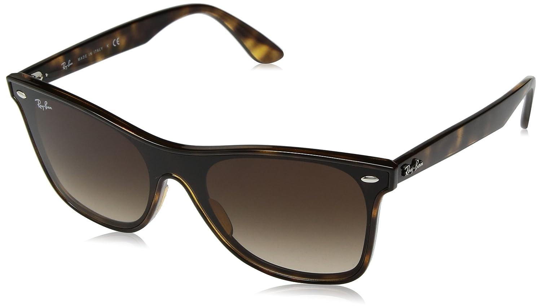 TALLA 45. Ray-Ban de los hombres Gafas de sol Blaze Wayfarer RB4440N, marrón
