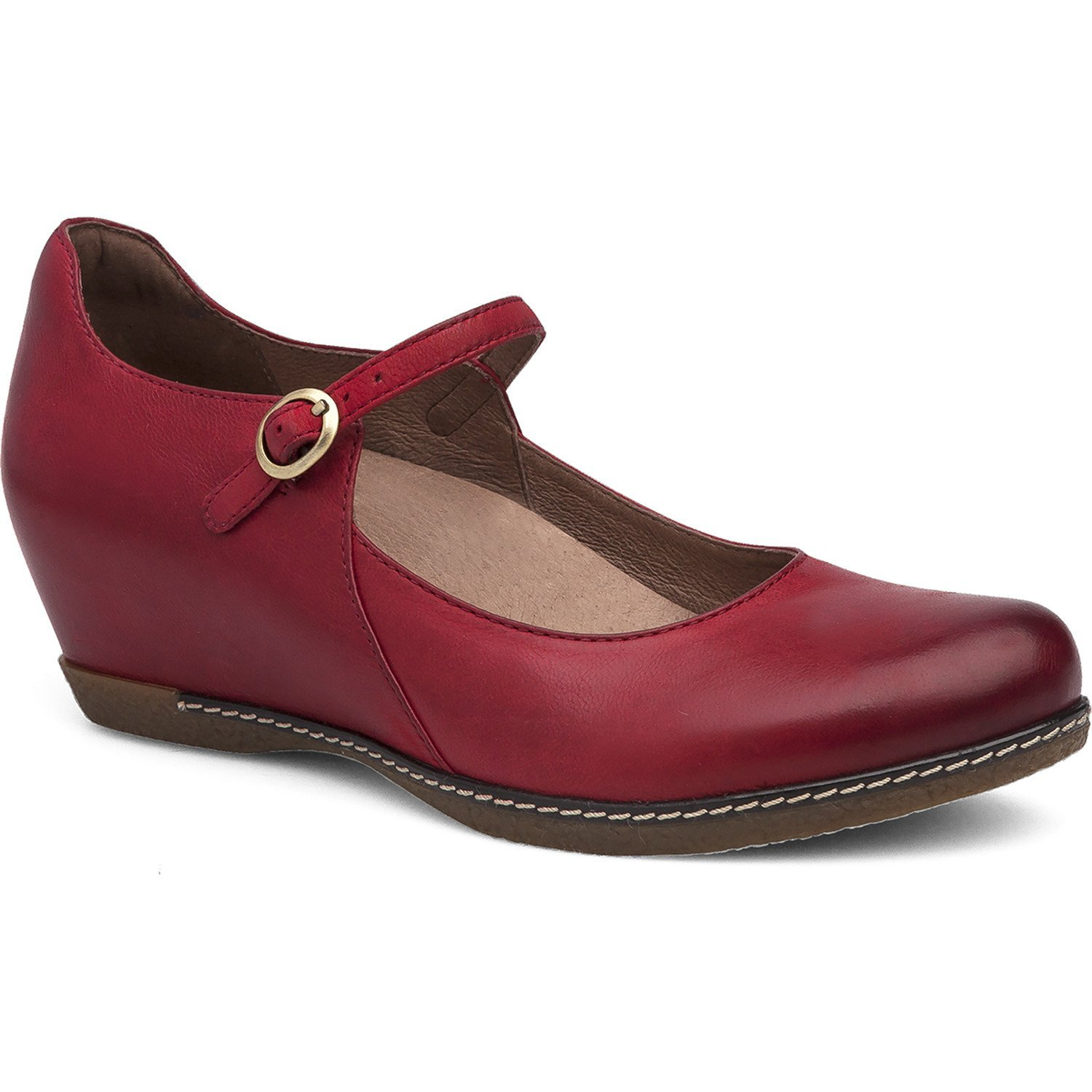 Dansko Loralie Women's Slip On (37 M EU, Red Burnished Nubuck)
