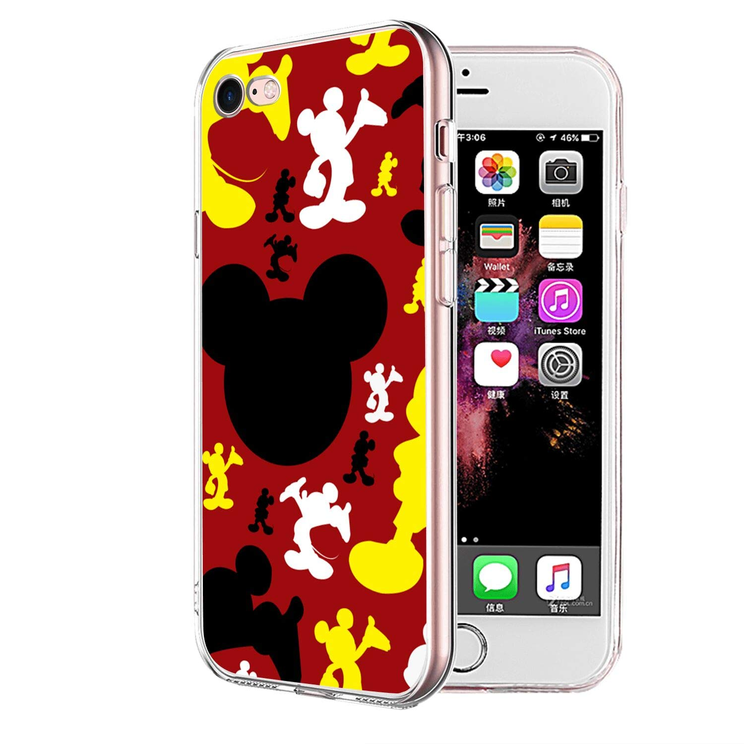 Amazon Com Disney Collection Clear Crystal Iphone 7 Iphone