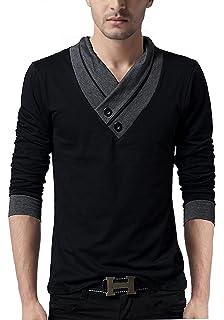 ed257e76 STYLE SHELL Men's Cotton Hooded Full Sleeve T-Shirt: Amazon.in ...