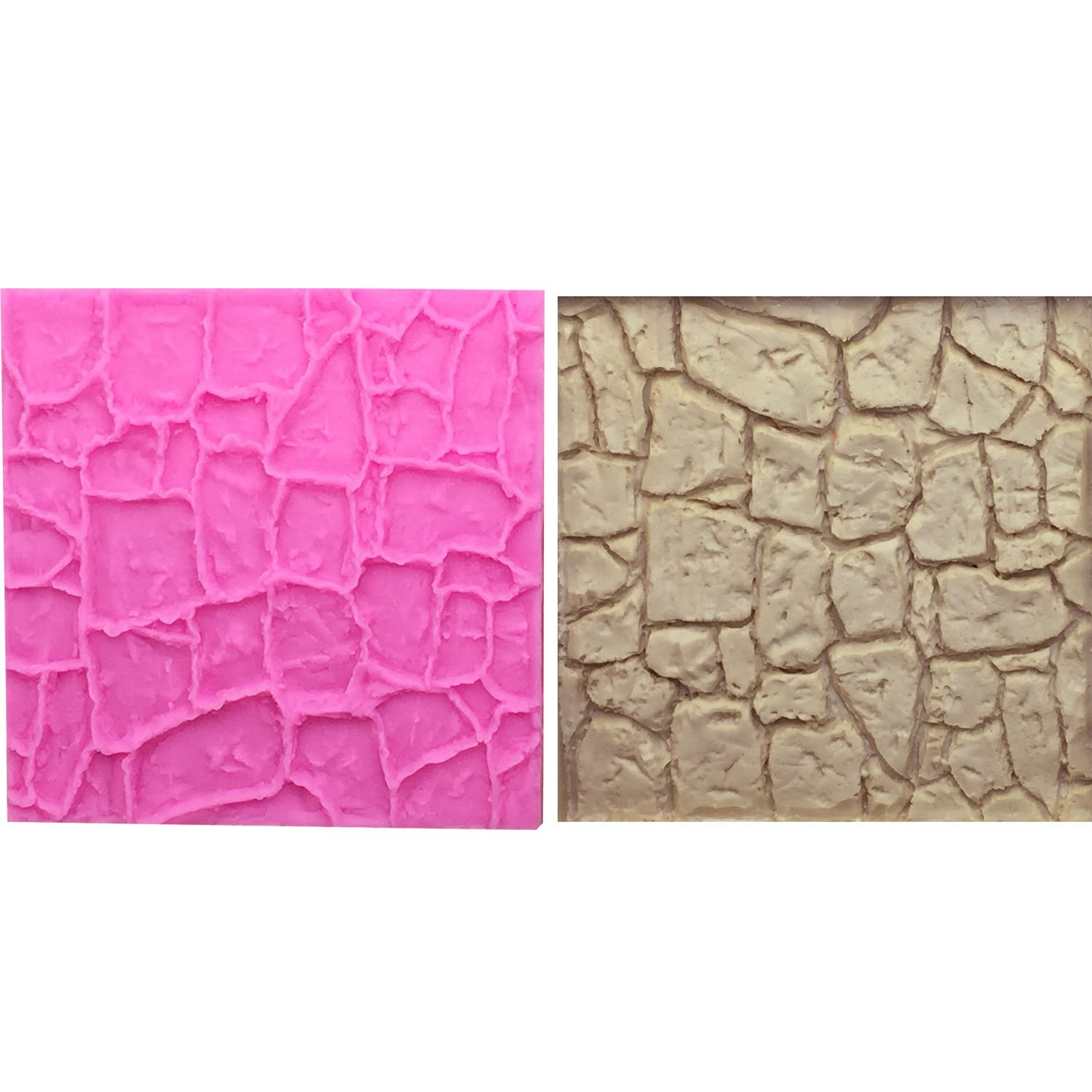 Star-Trade-Inc - M0663 Stone Texture Wall Rock Silicone Mold lace mat Chocolate Fondant Cake Bread Decorating DIY Baking Cookies Mould