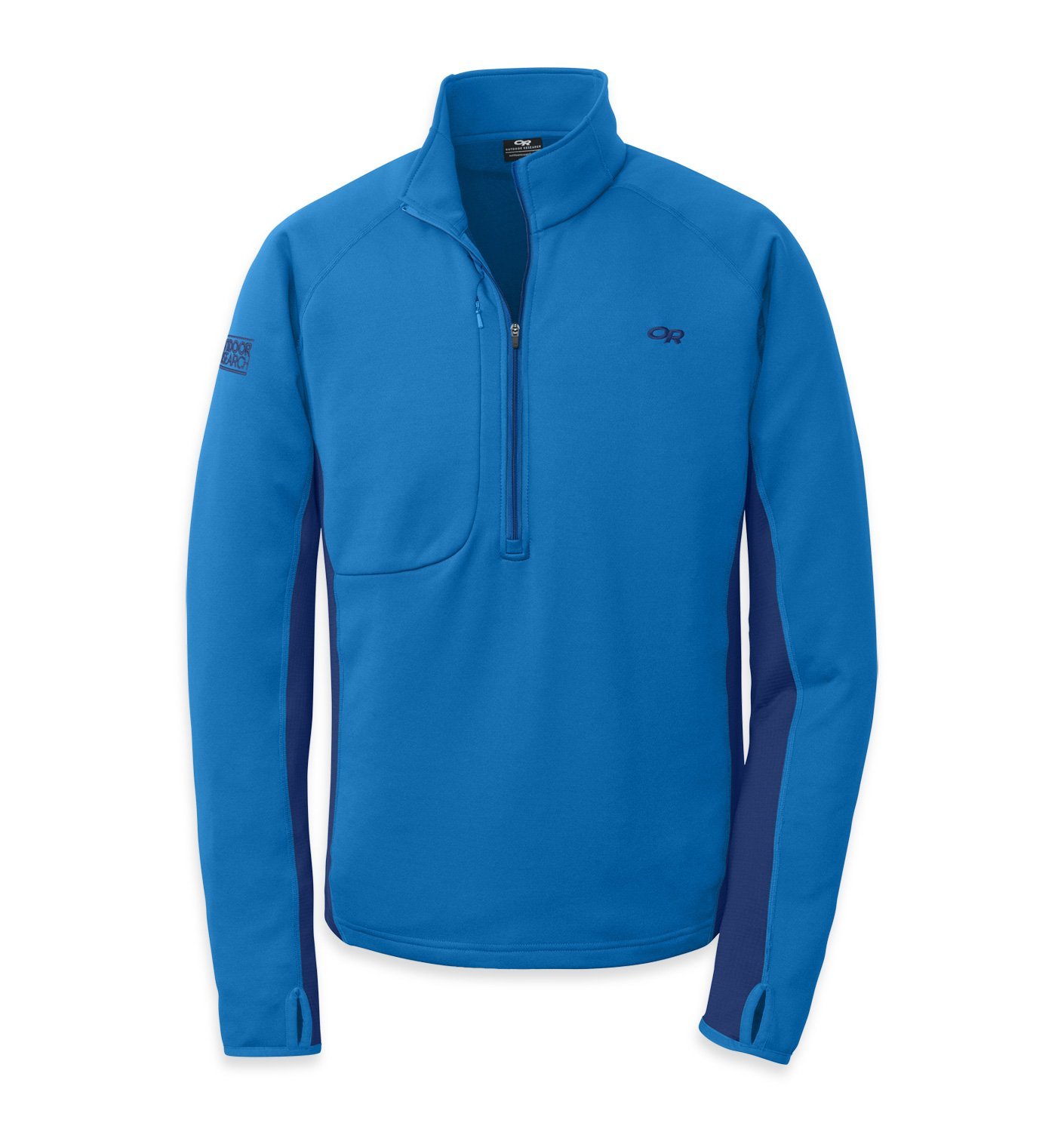 Outdoor Research Men's Radiant Hybrid Pullover, Glacier/Baltic, Medium by Outdoor Research