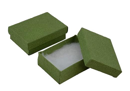 Colgante de lino verde con textura para joyería, cadena de ...