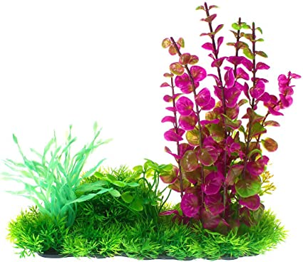 Saim Aquarium D/écor Artificial Plastic Plants Flowers Ornament Fish Tank Decorations