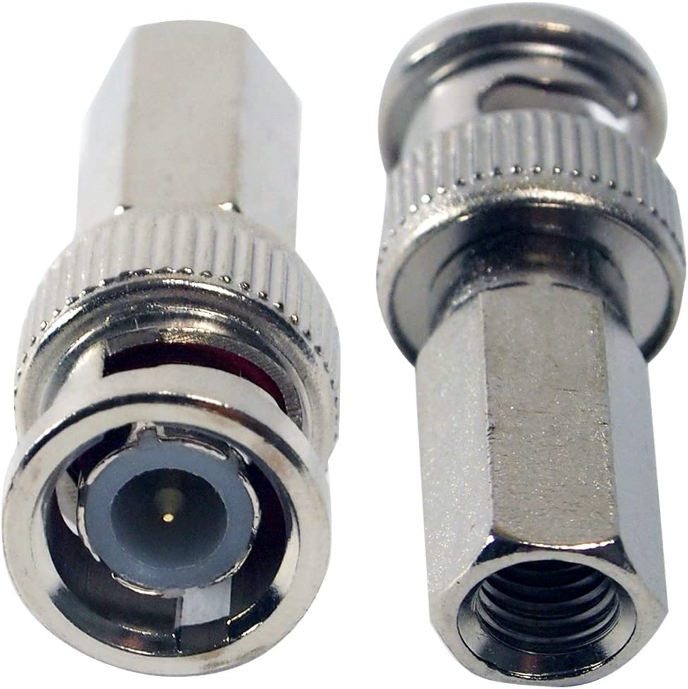 50pcs Coaxial Cable BNC CCTV Connector Adpater Twist-On for CCTV Security Camera