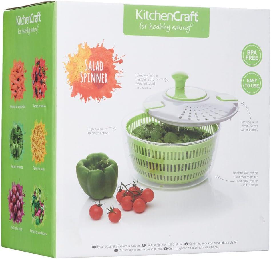 Compra KitchenCraft Healthy Eating - Ensaladera de plástico grande ...