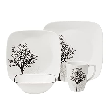 Nice Corelle Square 16 Piece Dinnerware Set, Timber Shadows, Service For 4 By  Corelle