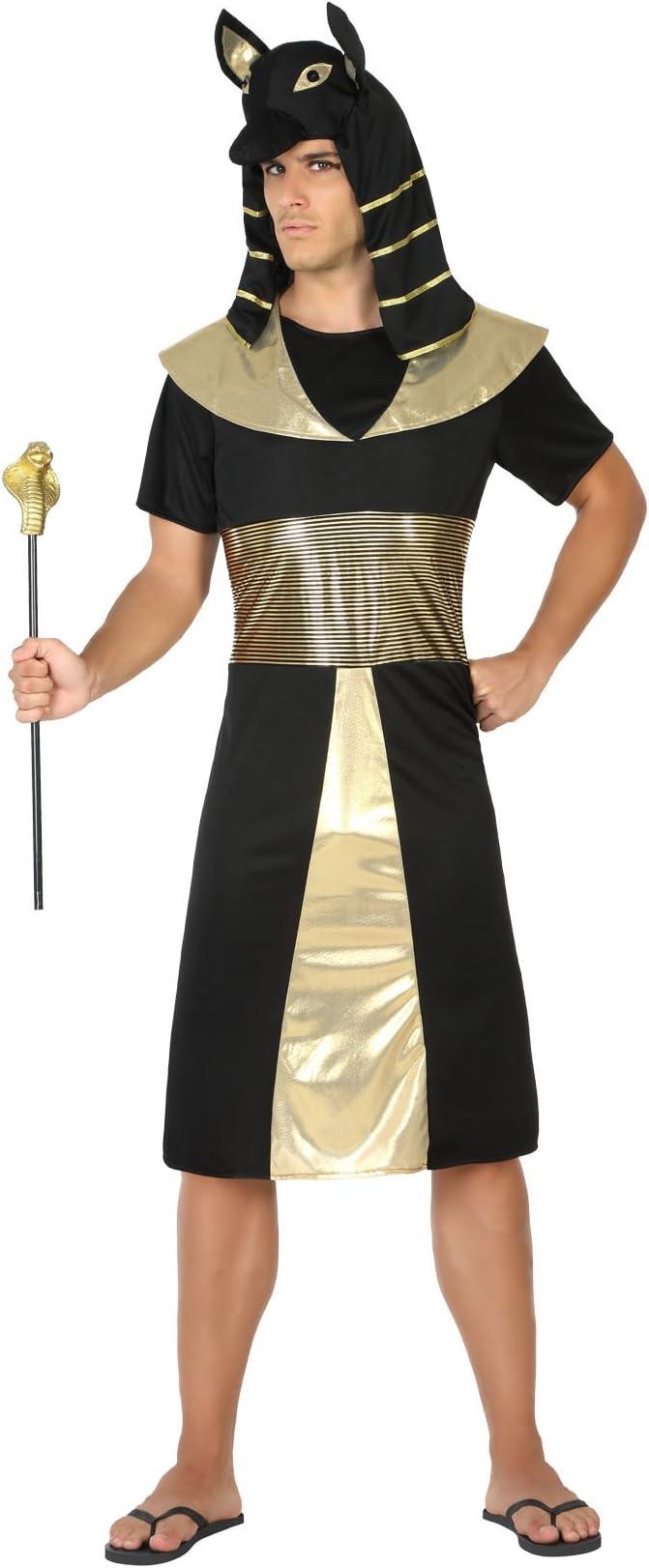 Atosa- Disfraz faraón egipcio, Color negro, M-L (17199): Amazon.es ...