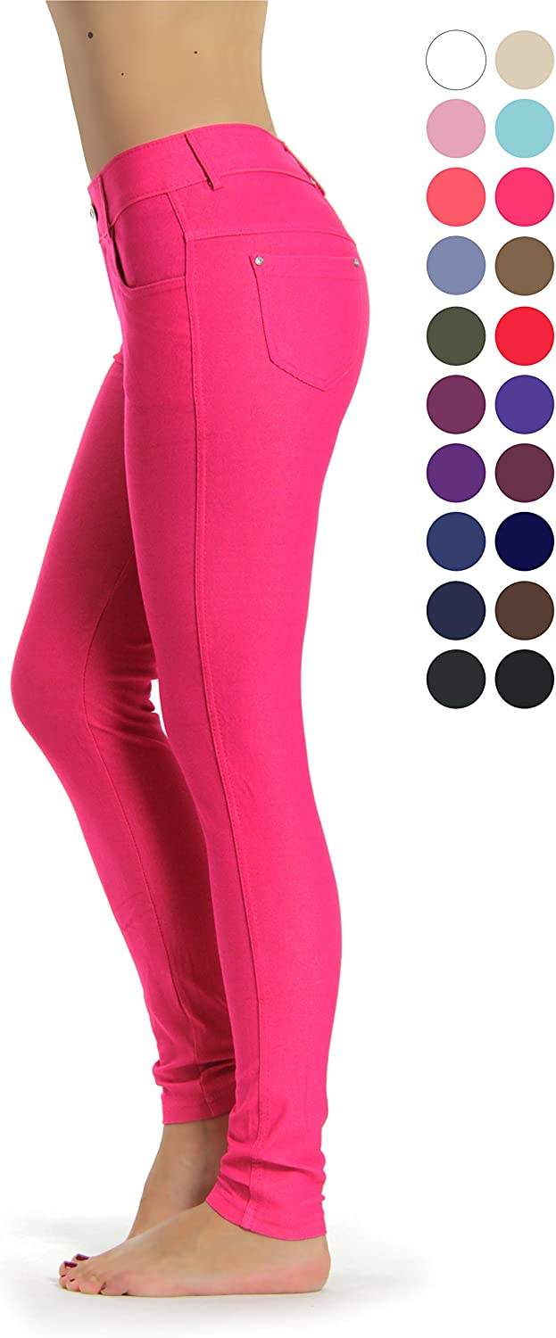 Prolific Health Women's Jean Look Jeggings Tights Slimming Many Colors Spandex Leggings Pants Capri S-XXXL